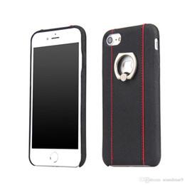 En cuir de luxe Croix motif motif support d'anneau pied béquille dur PC cas antichoc Etui de protection corps entier pour iPhone 7 plus le paquet de détail ? partir de fabricateur