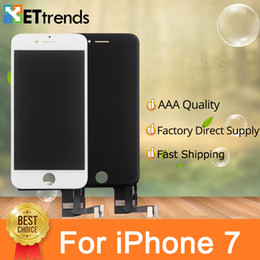 Wholesale Iphone Cold - High Quality AAA Display for iPhone 7 Lcd Screen Assembly Factory Directly Supply Cold Press Frame No Dead Pixel DHL Fast