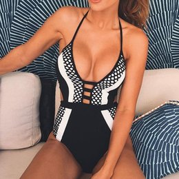 Wholesale Brazilian Clothing - 2018 sexy brazilian monokini swimsuit swimwear women one piece bodysuit swim suit bathing clothes hong kong