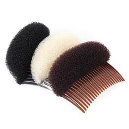 stile di pancia dei capelli per le ragazze Sconti Moda 1PC Elegante Styling clip di plastica del bastone del creatore del panino strumento Combs Accessori per capelli per le donne della ragazza Condizionatori per capelli