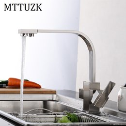 Wholesale Hot Cranes - MTTUZK Multifunctional Black Kitchen Faucet Drinking Water Cranes Hot&Cold Water Mixer Tap Antique Brushed Pure Faucets