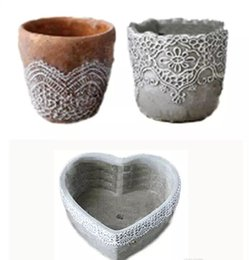 Wholesale Garden Concrete - MOQ mold Concrete Cement Pastoral Retro Flower Pots for home & garden Table Planters Tabletop furnishings creative Decorative Pots