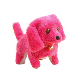 Wholesale Free Educational Music - 2017 New Pink Robotic Cute Electronic Walking Pet Dog Puppy Kids Toy With Music Light Dropship free shipping17Dec20