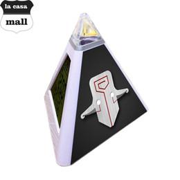 Wholesale Flash Alarm Clock - reloj despertador Triangulo LED Alarm clock Dota pyramid led clocks 7 color flashing bakclight watch clock reveil projection