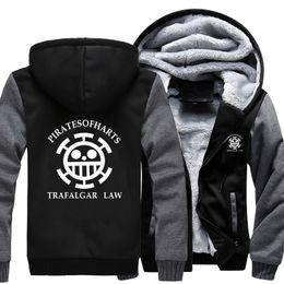 Wholesale One Size Cardigans - 2018 New autumn winter anime hoodies one PERATSO piece Death surgeon man hooded sweatshirts usa size