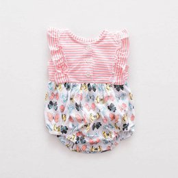 Wholesale Best Toddler Clothes - Best baby rompers newborn babies toddler infant jumper-suit Children summer cotton clothing set 3M-12M