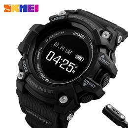 Wholesale Heart Rate Monitor Brands - DHL SKMEI Smart Watch Men Heart Rate Sport Watches Bluetooth Pedometer Calorie Top Luxury Brand Digital Wristwatch Relogio Masculino 1188