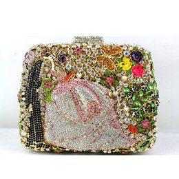 Wholesale Cheap Wedding Clutch Bags - Luxury Cheap Clutch Bag in Mini Size Beaded Fashion Handbags for Women Wedding Occasion Crystal Evening Clutches on Sale