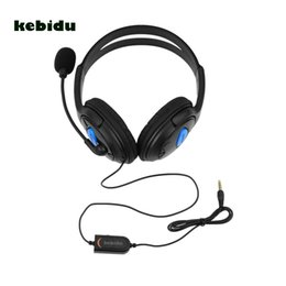 hands free наушники mic Скидка kebidu Hot 3.5mm Wired Headphone hands free Gaming Headphones Headset with Mic Adjustable Fillet для ПК