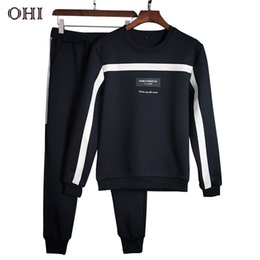 Wholesale two set underwear - Ohi M08 Designer Tracksuit Loose Underwear for Men Women Full Long Sleeves Two Piece Bottoming -Shirt Pants Men Clothing Sets
