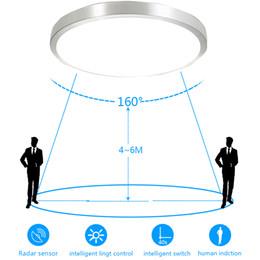 Wholesale Bathroom 12v - Motion Sensor Radar Human induction Acrylic led ceiling lights Fixtures Restaurant Bathroom Aisle Stairs Balcony Ceiling lamps