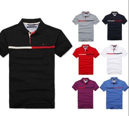 Wholesale Mens Embroidery Designs - Summer new design Luxury Brand mens polo Summer Fashion Short Sleeve Embroidery polo shirt High quality with tags M-3XL