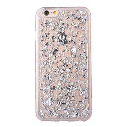 Estojo de prata on-line-Folha de ouro Glitter Bling Platina Caso Folha de Prata Goldleaf Macio TPU Transparente Tampa Traseira para o iphone X XS XR MAX 8 7 6 6 S Plus Casos