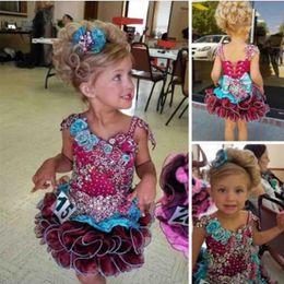 короткие платья для мальчиков Скидка милые свадебные платья для девочек с кексами и платьями из бисера с бисером