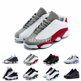 Wholesale Nylons Toes - 13 Low Hornets Bred Grey Toe Flints Grey White Red He Got Game Mens Basketball Shoes 13S Sports Shoes Sneakers For Sale 8-13