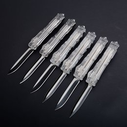 6styles МТ Д/прозрачная ручка охота складной карманный автоматический нож выживания ножи Рождественский подарок для мужчин C07 A062 A161 3300 от