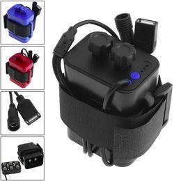 Kit de caja de batería de interfaz USB impermeable portátil 6 x 18650 Caja de cargador de batería para luz LED de bicicleta / teléfono móvil desde fabricantes