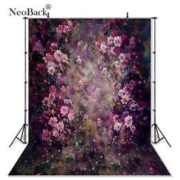 Wholesale fantasy backdrops - NeoBack thin vinyl Newborn Baby Spring Floral Photography Backdrop fantasy floral Customs Photo Studio backgrounds Prop P3355