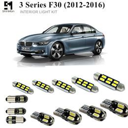 luzes de cabo de led Desconto Shinman 16 pcs livre de erros LED Kit de Luz Interior para BMW série 3 acessórios F30 2012-2016 luz interior do carro