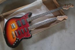 2019 e-gitarre körper stile 2019 New Style Double Neck Aktiv Pickups Gitarre 4 Saiten Bass 6 Saiten E-Gitarre Stratocaster Custom Body Guitar rabatt e-gitarre körper stile