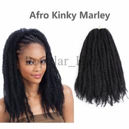 Wholesale Red Black Hair Extensions - freetress hair extensions afro kinky twist braiding hair crohcet braids 18inch sythetic hair extensions afro kinky marley kinky twists braid