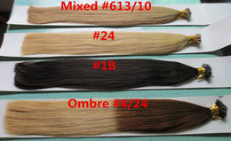 Wholesale Nano Ring Hair Extensions Indian - AAAAA Grade Natural Nano Ring Hair Extensions 0.5g s 100g pack Factory Prices All Colors Nano Straight Hair Extension Free Shipping
