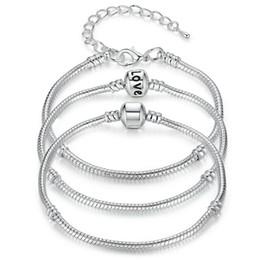 All'ingrosso della fabbrica 925 bracciali in argento sterling catena a forma di serpente fascino europeo branello del braccialetto del braccialetto per uomo donna gioielli regalo in massa da