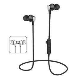 MS-T2 auriculares magnéticos Bluetooth Auriculares inalámbricos que ejecutan auriculares con micrófono MP3 Bass estéreo BT 4.2 para el iPhone Samsung 2018 desde fabricantes