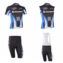 Wholesale Mtb Shorts Giant - GIANT team Cycling Short Sleeves jersey (bib) shorts Sleeveless Vest sets men's pro team cycling clothing mtb bike D2337