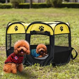 Canada 8-side pliable Pet tente Chien Maison Cage Chien Chat Tente Parc Parc Puppy Chenil Opération Facile Clôture Extérieure fournitures de plein air 1 pcs Offre