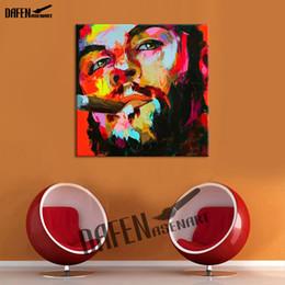 paleta de paleta figuras de pintura abstrata Desconto Fumar Guevara Paleta Faca Figura Imagem Abstrata Pintado À Mão Pintura A Óleo sobre Tela Decoração Da Parede