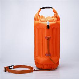 Cajas abiertas online-New Wave Swim Buoy-Open Water Swim Buoy con bolsa seca y funda para teléfono móvil para nadadores, flotador de boya altamente visible para caja fuerte