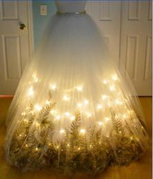 Vestidos de noche Luz LED vestido de fiesta 2017 Yousef aljasmi Zuhair murad Tulle White Labor joisie CharbelzVestido largo desde fabricantes