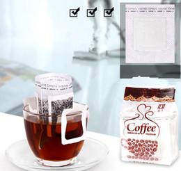 Filtrer les célibataires en Ligne-50pcs / Pack Café Filtre En Papier Sac Portable Oreille Suspendue Café Filtres En Papier Servir Unique Versez Café Sac KKA4279