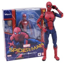 Wholesale Top Toy Figures - SHFiguarts Spider Man Homecoming The Spiderman PVC Action Figure Collectible Model Toy 14cm top free shipping