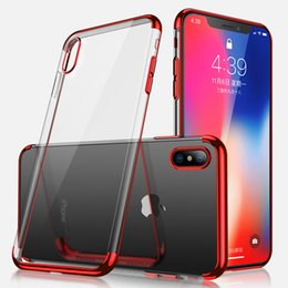 Wholesale shining tpu case - Luxury Shine Case For iPhone X For iPhone 8 7 6 6s Plus Plated Soft TPU Clear Slim Case for Samsung s8 plus