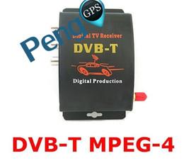 Discount dvb cars - DVB-T Car Digital TV HD MPEG-4 Tuner Receiver Two Antenna 140-200km h Two Chip Tuner DVB T BOX GPS