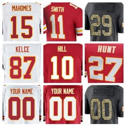Wholesale purple gold hills - Kansas City Travis Kelce Chiefs jersey custom Tyreek Hill Patrick Mahomes authentic sports youth kids american football jerseys cheap women