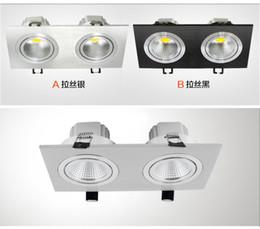 Wholesale Downlight Set - New study headed restaurant cob lamp lighting grid bean pot lamp full set of holes 2 connect Downlight