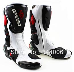 2019 moto botas moto New Cool boots botas de moto blancas de alta calidad Pro Biker SPEED Racing Boots, moto rebajas moto botas moto