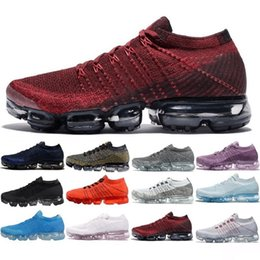 Wholesale B Patches - Original Vapormax Mens black running shoes rubber patch hot sale top quality Vapor Maxes Breathable basketball shoes rise