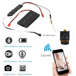 enregistrer la webcam vidéo Promotion HD 1080 P Mini WiFi Caméra P2P Caméra Module DIY Sténopé IP Enregistrement Sonore Motion Détection Vidéo Webcam