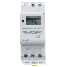 Wholesale relay switches - SINOTIMER Electronic Weekly 7 Days Programmable Digital TIME SWITCH Relay Timer Control AC 220V 110V 24V 12V 16A Din Rail Mount