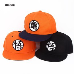 Wholesale Adult Cartoon Hats - 3PCS Hirigin Summer 2017 New Arrival Adjustable Dragon Ball Z Goku Cartoon Baseball Cap Japan Anime Hat Flat Costume Snapback