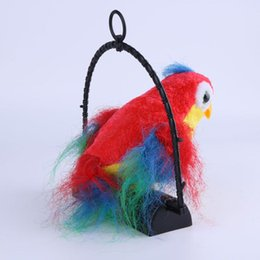 Wholesale Bird Toys Parrot - Novelty Electric Bird Talking Parrot Sound Whistle Induction Kids Toy Intelligent Electric Talking Bird Funny Toy(Random Color)