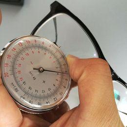 Lente di orologio online-Occhiali ottici portatili Radian Clock Gauge Apparatus Lens Degree Mechanical Testing DevLen Gauge Occhiali Accessori