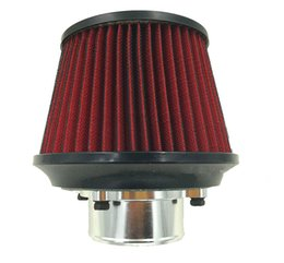 Wholesale red intake - OEM APEXI Universal Power Intake Air Filter 76MM Dual Funnel Adapter Sports CAR Turbo Extinguishing Protector