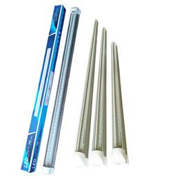 Wholesale cool lumens - Stock In US + Led Tubes Light V-Shaped 270 Angle design light UL DLC LED T8 5000 lumens 72W 8ft 2.4m Cooler Door Integrated T8