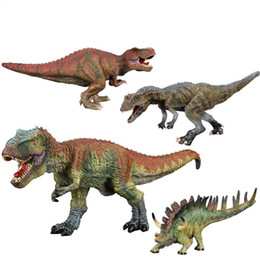 Wholesale Megatron Toy - 2017 Exemption Free 3Piece Plastic Solid Child's Toy Jurassic Period Dinosaur Ceratosaurus Kentrosaurus Megatron T-Rax Present Gift Emulate