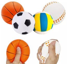 2019 brinquedos de borracha Stress Bola Squishy Esporte Bola Macio Jumbo Scented Squeeze Lento Rising Simulação Esporte bola Crianças Brinquedos